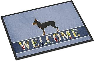 Caroline's Treasures Toy Fox Terrier Welcome Doormat 18 x 27 Multicolor