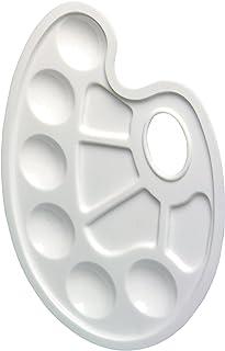 HERLITZ Palette de peinture en plastique ovale blanche 864303/3