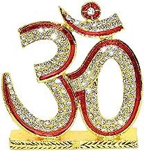Hindu Religious Symbol OM Idol Metal Statue for Car Dashboard   Mandir Pooja Murti   Temple Puja   Home Decor   Office Sho...