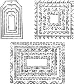 FineGood Scrapbooking Dies Lot de 3 Matrices de découpe pour la Fabrication de Cartes, pochoirs pour Scrapbooking et décor...