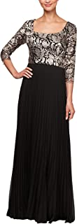Alex Evenings Women's Long A Line Illusion Sweetheart Neck Dress (Petite and Regular)