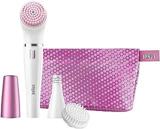 Braun Face 832-s - Set de regalo con depiladora facial y cepillo de limpieza facial, 3 accesorios