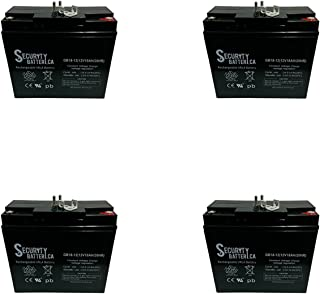 12V 18AH New Sealed AGM Battery for YardWorks Electric Lawn Mower - 4 Pack