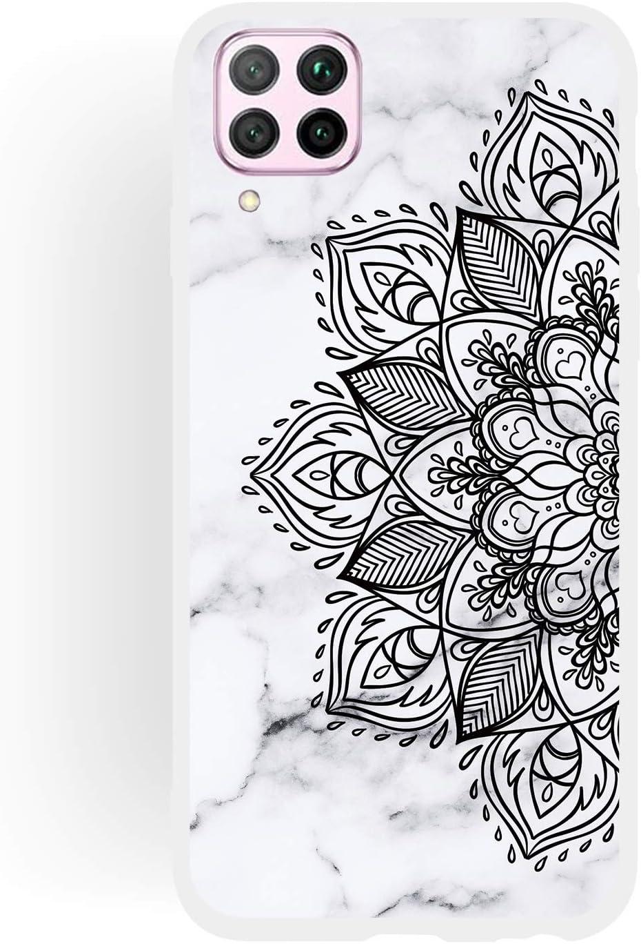 Couleur R/êve Reine ChoosEU Compatible avec 3X Coques Huawei P40 Lite Silicone Souple Motif Marbre pour Filles Femmes Homme Etui Soft /Étui Ultra Fine Antichoc Housse Mince Case Protection