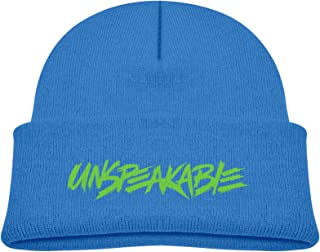 LKYN Baby Un-Speak-Able Beanie Hats Skull Cap Cuffed Plain Cuff Knitted Slouchy Hats Blue