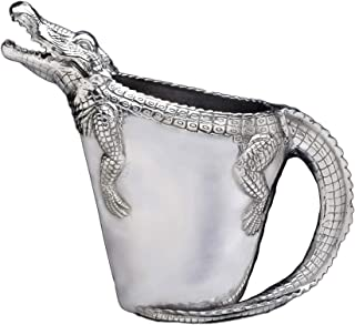 Arthur Court Alligator Pitcher for Water Juice Aluminum Handle Tropical Styling 12