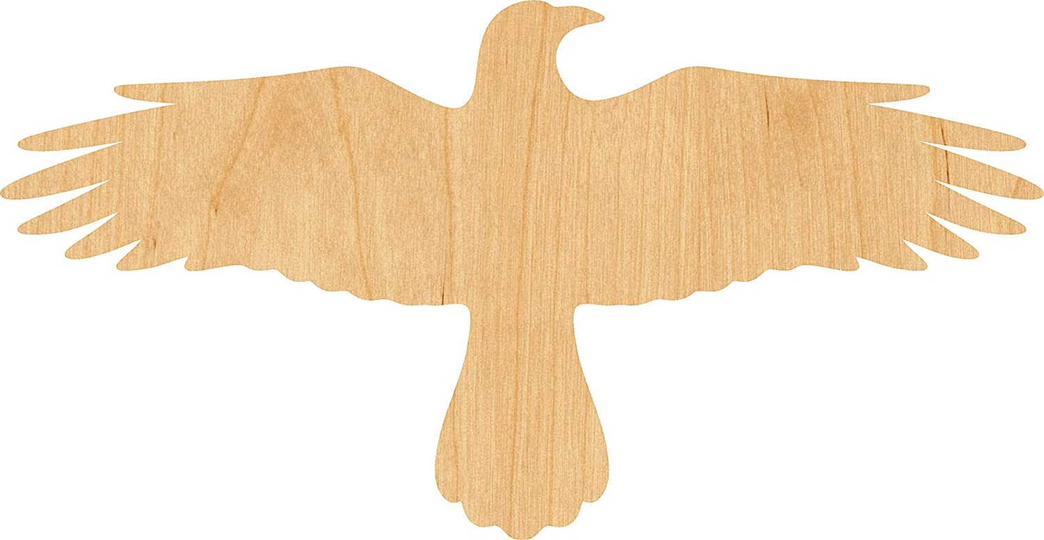 OFFicial site Flying Ranking TOP19 Crow Laser Cut Out Wood Supply Shape Craft 2