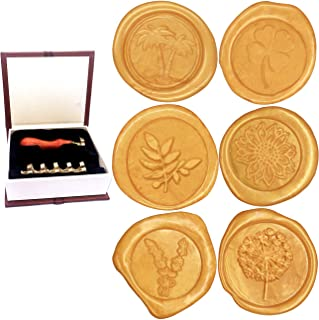 Wax Stamp Seals, Botokon Vintage Retro Flora Series Wax Seal Stamp Kit Classic Sealing Wax Stamp Set, Great for Cards Envelopes, Invitations, Wine Packages, Gift Wrapping