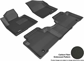 3D MAXpider L1HY01701509 Complete Set Custom Fit All-Weather Floor Mat for Select Hyundai Santa Fe Models - Kagu Rubber (Black)