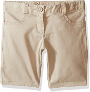 Girls' School Uniform 5-Pocket Twill Bermuda Short