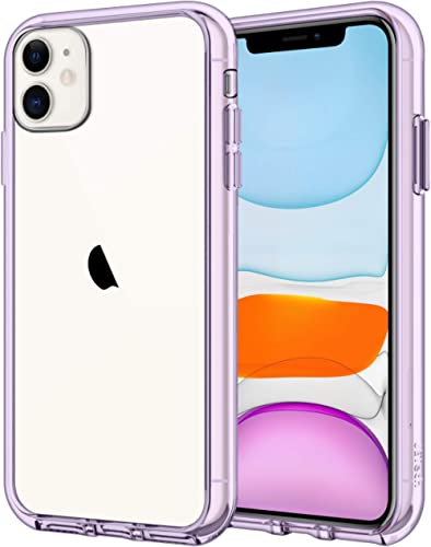 JETech Case for iPhone 11 (2019) 6.1-Inch, Shock-Absorption Bumper Cover, Anti-Scratch Clear Back, Purple