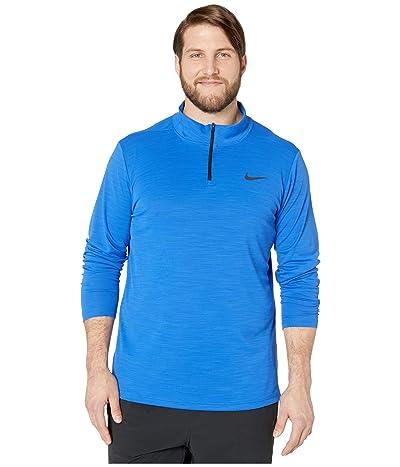 Nike Big Tall Superset Top Long Sleeve 1/4 Zip (Game Royal/Black) Men