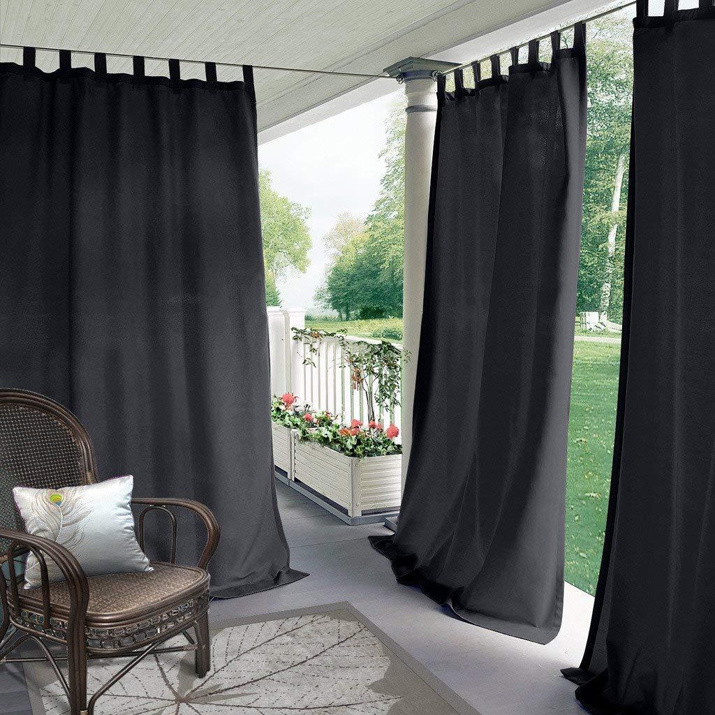 Cololeaf - Paneles de cortina para interior y exterior, para patio, porche, cenador, pérgola y cabaña, color beige, 132 x 213 cm (1 panel).: Amazon.es: Hogar