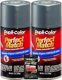 Dupli-Color Sherwin-Williams Company Magnesium Pearl Perfect Match Automotive Paint for Chrysler Vehicles - 8 oz, Bundles with Prep Wipe (3 Items)