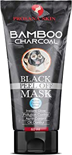 Prosana Skin Activated Charcoal (deep clean) Peel off mask for Men & Woman | 60 ML