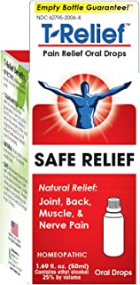 MediNatura T-Relief Oral Drops Plant-Powered Pain Relief -13 Natural,Soothing Ingredients For Joint,Back,Muscle,Nerve & Arthritis Pain - Homeopathic Healing with Arnica, Echinacea & Calendula -1.69 oz