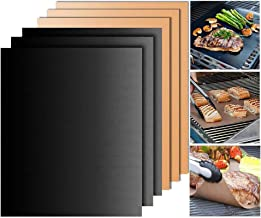 SCIONE Grill Mat Set of 6,BBQ Grill Mats Non Stick, Heavy Duty, Reusable, FDA-Approved, and Easy to Clean, Works on Gas, Charcoal, Electric Grill