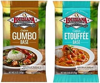 Louisiana Fish Fry Company Cajun Creole Meals Bundle - 1 each of Gumbo Base 5 Ounces and Etouffee Base 2.65 Ounces