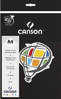 Papel Colorido A4 120g/m², Canson, 66661237, Preto, 15 Folhas