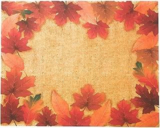 Disposable Paper Placemats - Autumn Decor- Fall Maple Leaves Paper Placemats 36 Count