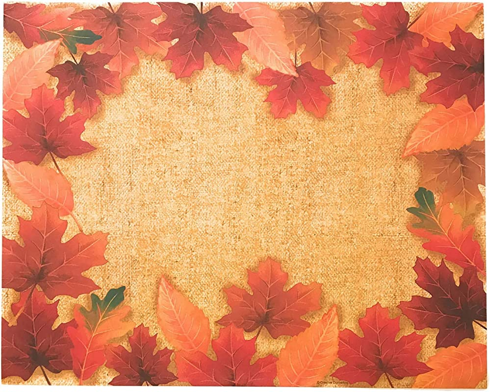 Disposable Paper Placemats Autumn Decor Fall Maple Leaves Paper Placemats 36 Count