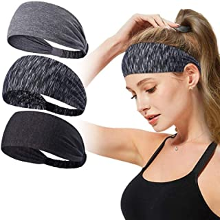 Headbands for Women,Tersely 3 Pack Women Sport Workout Yoga Headband Non Slip Lightweight Soft Wicking Stretchy Multi Styl...