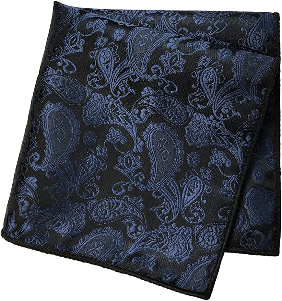 CANGRON Men Tie Paisley Necktie Pocket Square Cufflinks Tie Set with Giftbox LSP8ZH