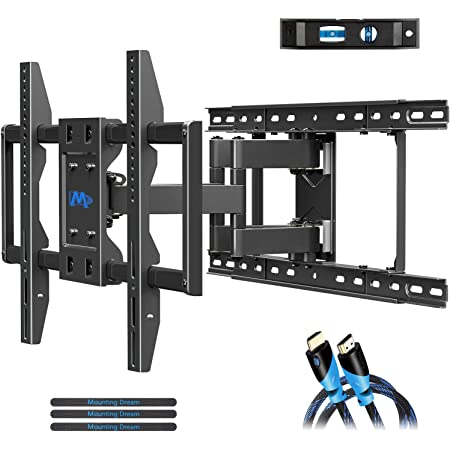 Amazon Com Mounting Dream Tv Mount With Sliding Design For 42 70 Inch Tvs Easy For Tv Centering On Wall Full Motion Tv Wall Mount Fits Most Smart Oled Tvs Easy To Install