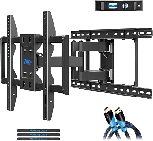 Mounting Dream TV Wall Mount for 42-70 Inch TVs, Full Motion TV Mount Wall TV Wall Bracket with Articulating Dual Arm...