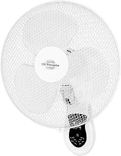 Orbegozo WF0242 Ventilador de pared, mando a distancia, 3 velocidades de ventilación, cabezal oscilante multiorientable, temporizado, 40 W