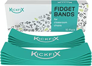 Fidget Chair Bands for Kids - Flexible Seating Classroom Furniture for Kids with Fidgety Feet - Bouncy Foot Bands for The Desk or Chair for Students with ADHD, Autism, or Sensory Needs