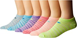 New Balance - N032 Lifestyle No Show Socks 6-Pair Pack
