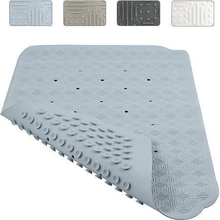 f/ür Badezimmer rund PVC antibakteriell Massage-Duschmatte 55 x 55 cm Generies Rutschfeste Badematte waschbar Saugn/äpfe Schwimmbad Badematte WC