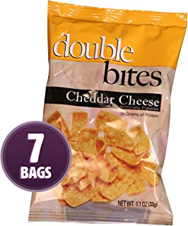 Weight Loss Systems - Cheddar Cheese Double Bites - High Protein, Low Carb Snack - Low Calorie - Low Fat - Diet Chip - Gluten Free - 7 Bags