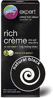 Rich Creme Hair Colour - Natural Black 1, Multi Application Pack(62g+50ml)