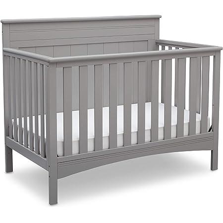 Delta Children Fancy 4-in-1 Convertible Baby Crib, Grey , 54.50x30.5x43.75 Inch (Pack of 1)