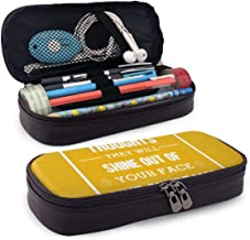 Roald Dahl Quote If You Have Good Thoughts Large Capacity Pen Case Double Zippers with Compartments for Girls Boys and Adults