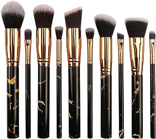 Make-upborstels, draagbare marmer en marmer 10-delige make-upborstelset is gemakkelijk mee te nemen en mee te nemen voor g...