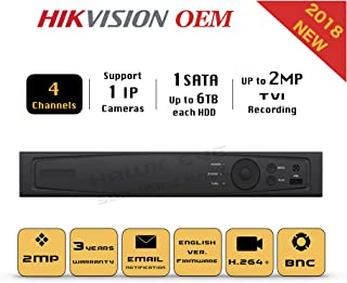 4CH HD TVI 1080P DVR - Surveillance Digital Video Recorder 4CH HD-TVI/CVI/AHD H264 Full-HD HDMI/VGA/BNC Video Output for H...