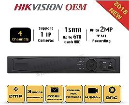 4CH HD TVI 1080P DVR - Surveillance Digital Video Recorder 4CH HD-TVI/CVI/AHD H264 Full-HD HDMI/VGA/BNC Video Output for Home & Business Analog& IP Camera Support Mobile App 3year Warranty