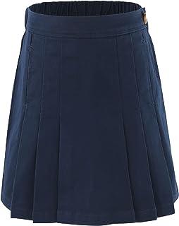 Niña Algodón elástico Uniformes Escolares Plisado Falda
