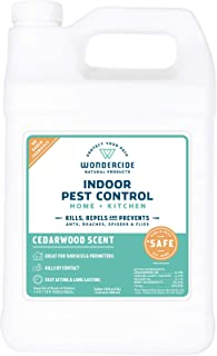 Wondercide Natural Indoor Pest Control Spray for Home and Kitchen — Fly, Ant, Spider, Roach, and Bug Killer and Repellent — 128 oz Cedarwood
