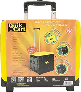 dbest products Ultra Compact Quik Cart Two-Wheeled Collapsible Handcart with Lid Rolling Utility Cart