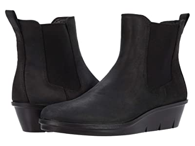 ECCO Skyler Wedge Chelsea Boot (Black) Women
