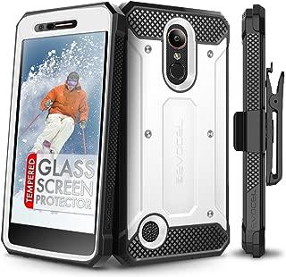 LG K20 Plus Case, Evocel [Explorer Series] with Free [LG K20 Plus Glass Screen Protector] Premium Full Body Case [Slim Profile][Rugged Belt Clip Holster] for LG K20 Plus / K20 V/LG Harmony, White