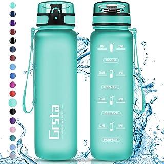 comprar comparacion Grsta Botella Agua - Botella de Agua Deportes 350ml/500ml/800ml/1L/1.5L Botella Deportiva Tritan de Plástico Sin BPA con F...