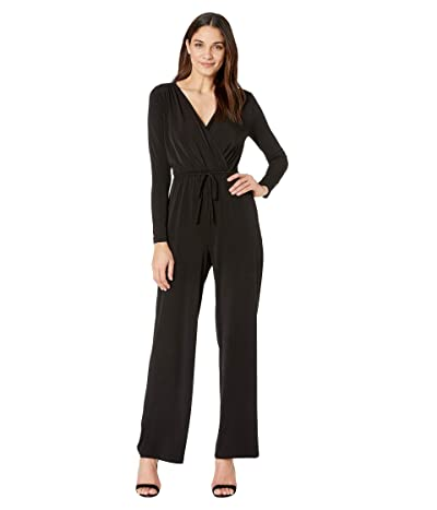 BCBGeneration Surplice Jumpsuit (Black) Women