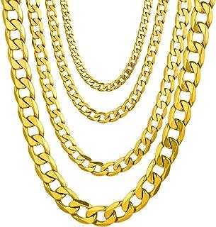 TIDOO Jewelry Mens Gold Chain Free Mason Pendant Necklace