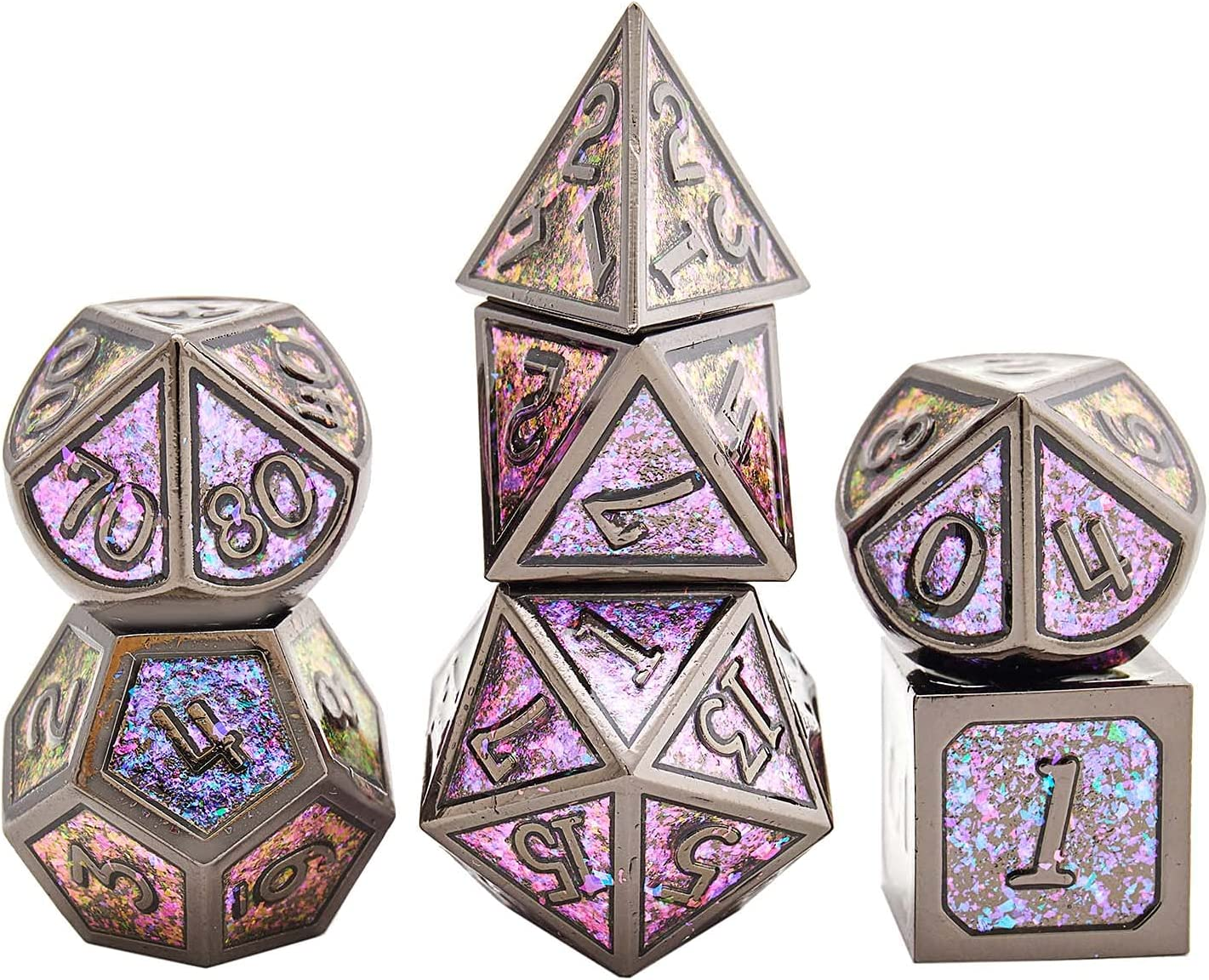 LANSAI Large special price DND Metal Max 86% OFF dice Set for Dunge RPG polyhedral