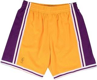 Mitchell & NessメンズLakers Swingman Shortsゴールド/パープルサイズ